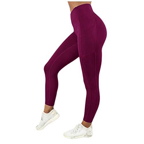 Buy Bargain Out Pocket High Waist Yoga Pants - Tummy Control Workout Soft Pants High Waist Yoga Legg...