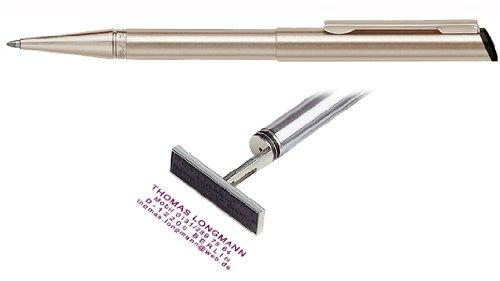 Stempelkugelschreiber Heri Diagonal champagner