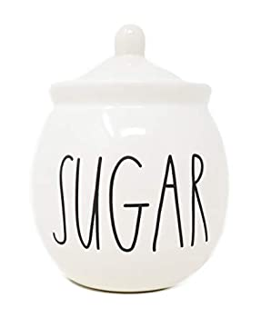 Rae Dunn by Magenta SUGAR bowl with lid Large Letters.