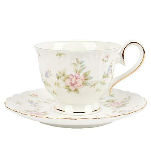 HRDZ Taza de café de Porcelana de Hueso, pequeño Juego Exquisito, Taza de café de cerámica, té de la Tarde, Juego de té de Gama Alta