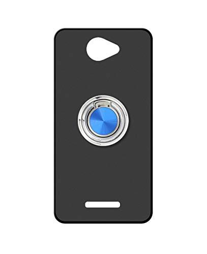 Sunrive Kompatibel mit alcatel Flash Plus 2 Hülle Silikon, 360°drehbarer Ständer Ring Fingerhalter Fingerhalterung Handyhülle matt Schutzhülle Etui Hülle (A2 Blau) MEHRWEG