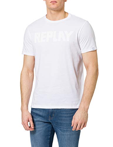 REPLAY M3409 Camiseta, 001, L para Hombre