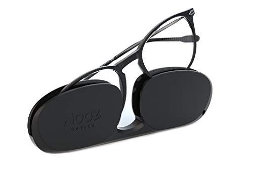 Nooz Optics - Blaulichtfilter brille ohne sehstärke Damen und Herren für Bildschirm, Smartphone, Gaming oder Fernsehen - Ovale Form - Schwarze Farbe - Alba Collection