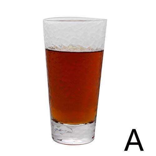 Koffiekopjes bekerglas handgemaakt glas kleurloos transparant glas glazen theekop bierpul koud drank-sapcup-whisky-schaal-sterk glas, gevoel goede capaciteit 301-400 ml