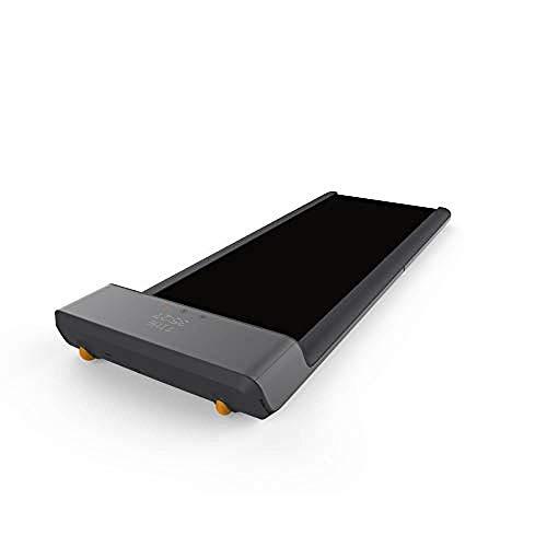 ZLYAYA Mini Laufband klappbar Fitnessgerät für Zuhause/Büro Gratis App Adaptive Geschwindigkeitsanpassung Aluminiumdesign 10.000 Schritte Am Tag gehen (Schwarz)