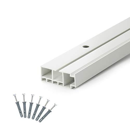 DQ-PP] 100cm Gardinenschienen PVC 1 - läufig Innenlaufschienen Deckenschiene