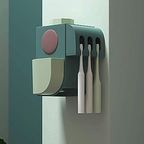 Tandenborstelhouder elektrische tandenborstel Sanitizer wandmontage met sterilisator Function, tandenborstel Organizer for baby Familie, Green 8bayfa