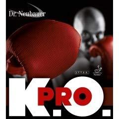DR. NEUBAUER Belag K.O. Pro (halblange Noppe) Optionen 1,3 mm, rot