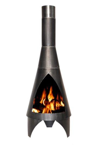 Buschbeck Feuerstelle, Stahlofen Colorado, silber/schwarz, 40 x 40 x 105 cm, 90049.000