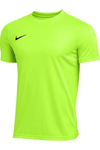 Nike Men's Park Short Sleeve T Shirt (Volt, Large)