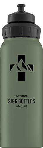 Sigg Unisex– Erwachsene Mountain Leaf Green Touch Wasserflaschen, Grün, 1