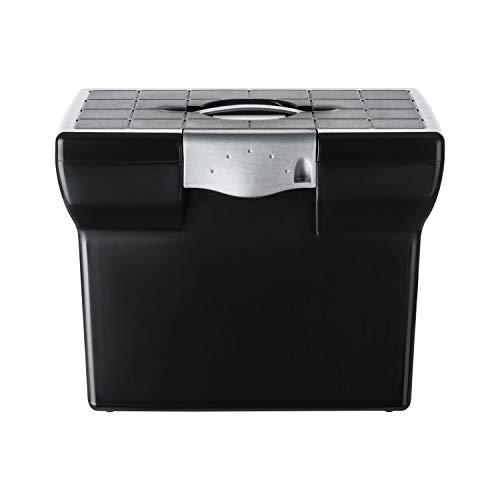 shelfmade Premium Ablagebox Hängemappenbox Aktenbox Archivbox (aus Kunststoff, A4) (schwarz)