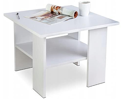 Stolik Ława kawowy biały loft 60x60cm