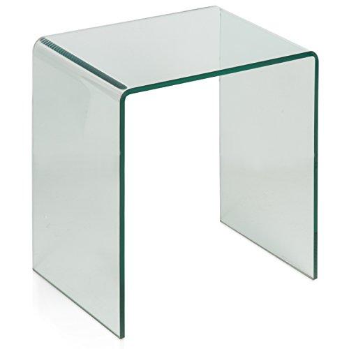 Belssia nachtkastje van glas, uniek