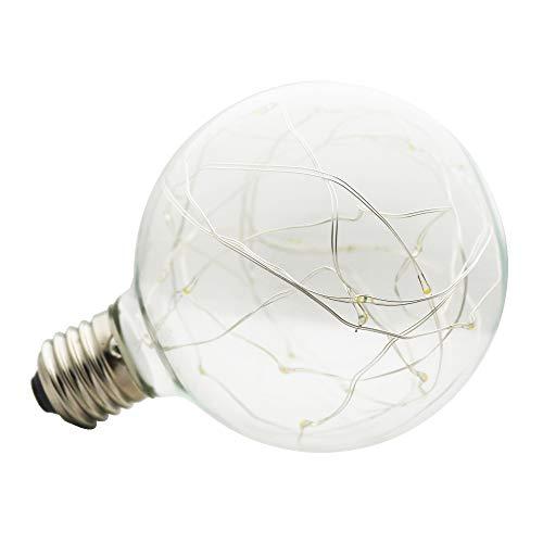 LED Edison Lampe 3W 1 pc G95 Globe Vintage Glühbirne Lichterkette Lampe (E27, 220V) Ideal für Nostalgie und Antik Beleuchtung verschönen deine Wohnung,Laden,Restaurant usw Warmweiß 2700K