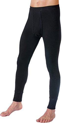HERMKO 3540 2er Pack Herren Lange Unterhose Long Johns (Weitere Farben) Bio-Baumwolle, Größe:D 6 = EU L, Farbe:schwarz