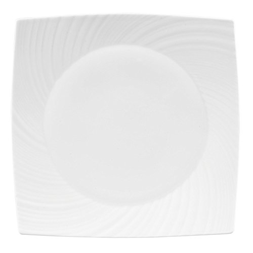 Wedgwood Ethereal Quadratischer Teller, 28 cm, Weiß