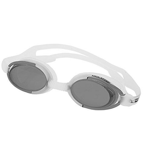 Aqua-Speed–Schwimmbrille Malibu blanco-gris