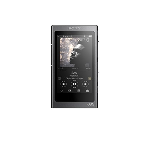 Sony NW-A35 16GB Walkman - Digital Music Player with Hi-Res Audio, Charcoal Black (2017 model)