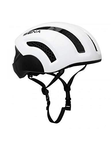 Sena Helm Fahrrad City Erwachsene x1 In-Mold Größe 59-63 Anschluss Bluetooth 4.1 mit Satz Hand Frei für Telephoner Weiß