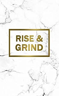 Rise & Grind: 2020-2021 Two Year Marble & Gold Monthly Pocket Planner & Organizer | Motivational 2 Year Agenda & Calendar, Phone Book, Password Log, Inspirational Quotes & Notes (Creative Planners)