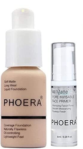ABRUS - Phoera Full Coverage Foundation Soft Matte Oil Control Concealer...