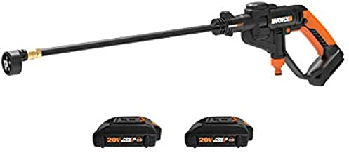 WORX WO7076 20V Hydroshot Portable Power Cleaner, 2 Batteries and Charger Included