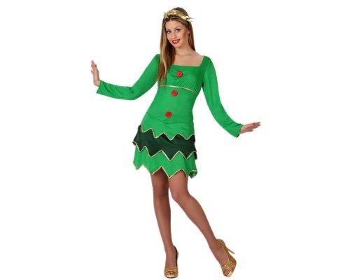 Atosa-17246 Disfraz ÀRbol Navidad Mujer Adult, color verde, M-L (17246)