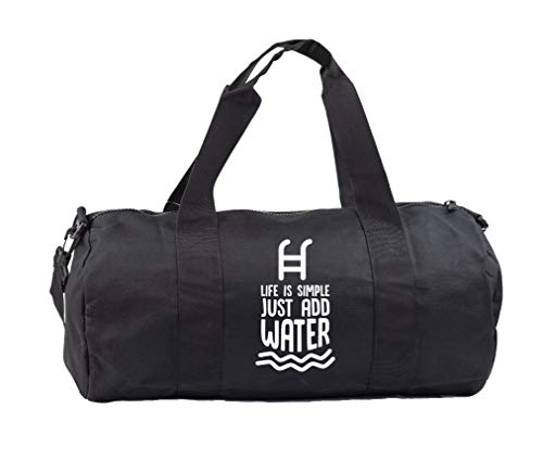Hippowarehouse Life is simple just add water swimming Gymwear Gym Duffle Cylinder Uniform Kit Bag 50 x 25 x 25cm 20 litres