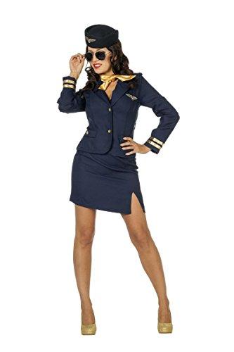 Damen Kostüm Flugbegleiterin Stewardess Karneval Fasching Gr.42
