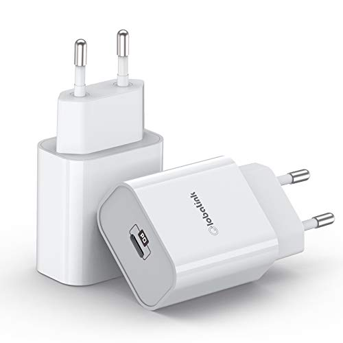 2Pack 20W iPhone USB C Chargeur Rapide, Power Delivery 3.0 PD Chargeur Rapide Compatible avec iPhone 12 Mini Pro Max Se 2020 11 Pro Max XR X 8 iPad Pro Galaxy S10 S9 S8 Redmi Note 9 Pro