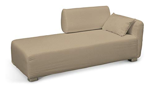 Dekoria Mysinge Recamiere Sofabezug Husse passend für IKEA Modell Mysinge beige-Creme