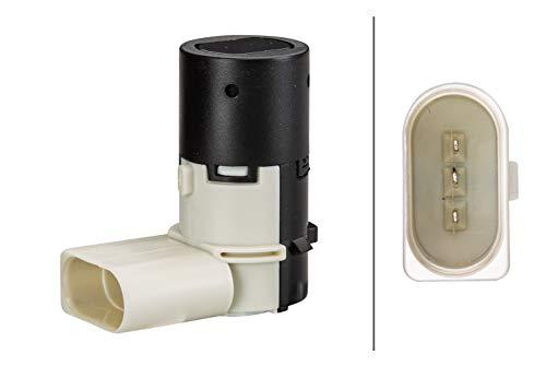 HELLA 6PX 358 141-031 Sensor, Einparkhilfe - gewinkelt - 3-polig - gesteckt - lackierbar