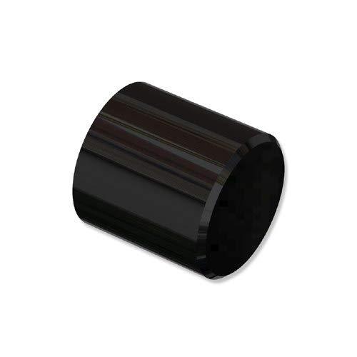 INTERDECO Endstücke Kappe Schwarz aus Metall für Gardinenstangen 20 mm Ø (2 Stück)