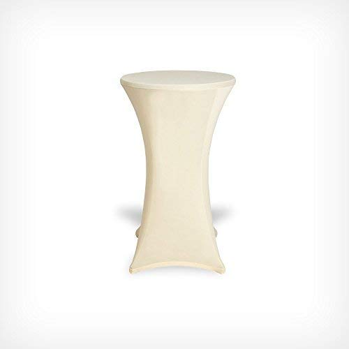 DRULINE Stehtischhussen Tischhusse Tisch Husse Stehtisch Bistrotisch Hussen Tischbezug Bezug (60x120, Weiß)