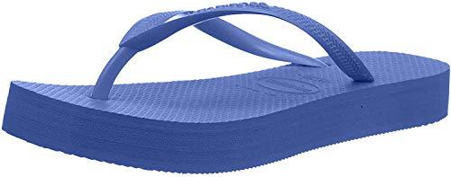 Havaianas Damen Slim Flatform Zehentrenner, Blau (Blue 0057), 37/38 EU
