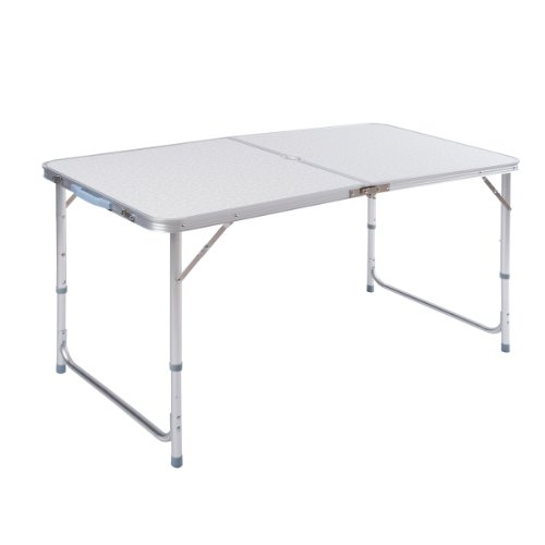 ZNL Table de camping en aluminium pliable portable pour bureau Hauteur réglable Motif Valise 120 x 60 x 70 cm pour jardin Aft-02