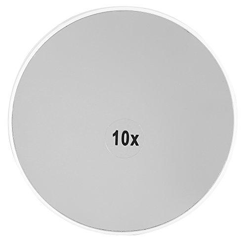 Miroir de maquillage grossissant x 10 - Portable - Outil de maquillage