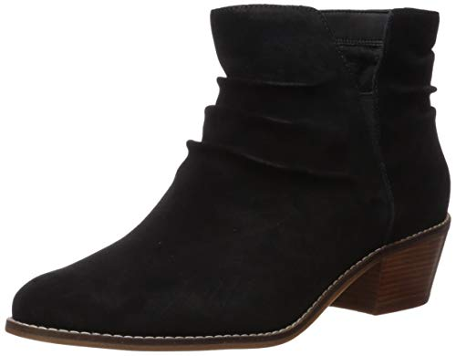Cole Haan Women's Alayna Slouch Bootie Ankle Boot, Black Suede, 7 B US