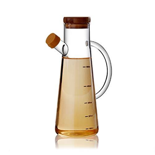 JSY Cristal Aceite Vinagre Pot Sellado a Prueba de Fugas de Aceite Crisol Simple pote de Cristal de bambú Cubierta de Madera del Aceite Pot Tarro de condimento
