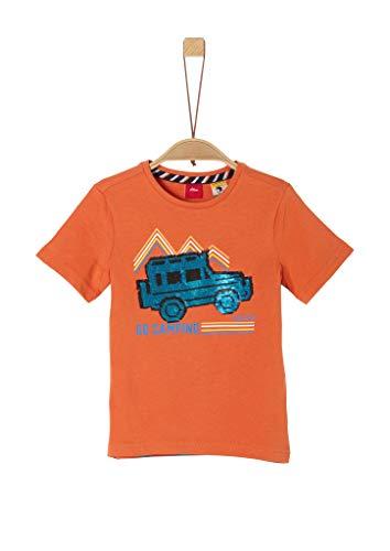s.Oliver Junior 404.10.004.12.130.2038136 T-Shirt, Jungen, Orange 104/110 REG