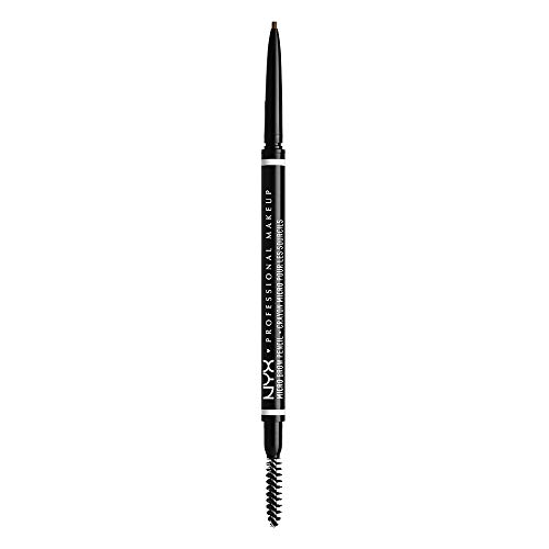 NYX Professional Makeup Lápiz de Cejas Retráctil Micro Brow Pencil con Goupillón - Tono Ash Brown