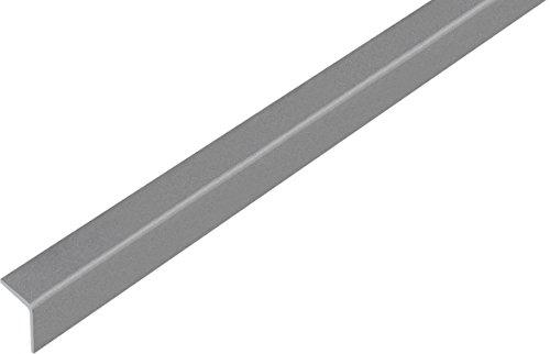 GAH-Alberts 432928 Winkelprofil - selbstklebend, Kunststoff, grau metallic, 1000 x 20 x 20 mm