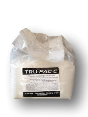 Countertop Conversion Kit High-Performance Mix TRU PAC C by Walttools for Cast-in-Place or Precast Counters, Strong, Convenient, Workable, Just Add Mix and Water