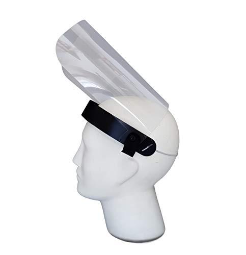 FUN FAN LINE - Pack x2 de Máscaras de protección, caretas de plástico, pantallas para la cara, protectores faciales de seguridad transparente