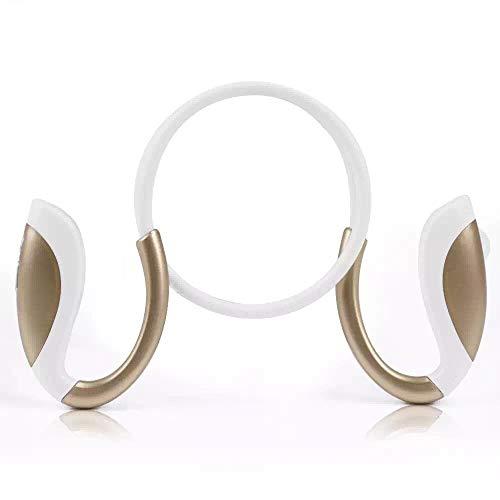 YISHE-JUN Auriculares Bluetooth X26 Auriculares Deportivos binaurales estéreo inalámbricos montados en el Cuello El Hogar, O En La Oficina (Color : White Golden)