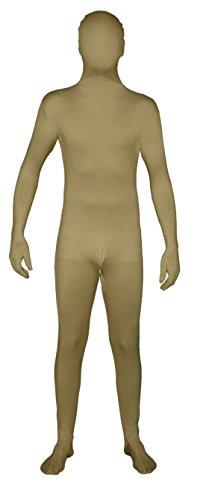Unbekannt Hautfarbener Ganzkörperanzug mit Reißverschluss im Schritt! Ganzkörperkostüm / Gruppenkostüm für Karneval in Hautfarbe Größe XXL