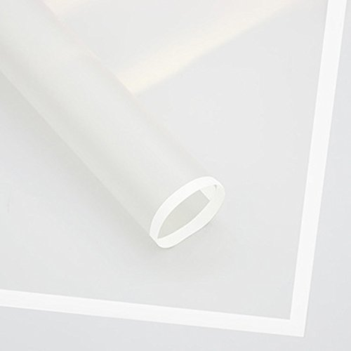 Frosted Flower Wrapping Paper White Lines Gift Packaging Florist Bouquet Supplies 20 Counts (White)