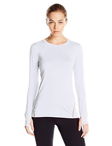 Tommie Copper Women's Performance Rhythm Long Sleeve Crew Shirt, White, Small
