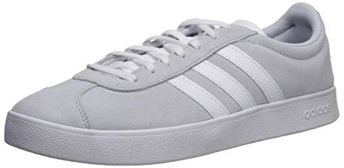 adidas Women's VL Court Skate Shoe, Aero Blue/White, 8.5 M US